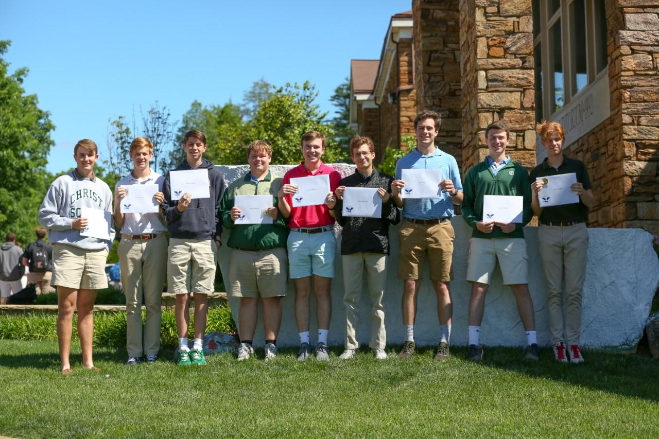 Greenies hold service learning certificates
