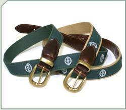 CS Crest Belt Leather w/ Brass Buckle
