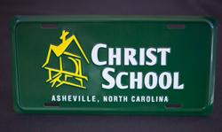 Christ School License Plate