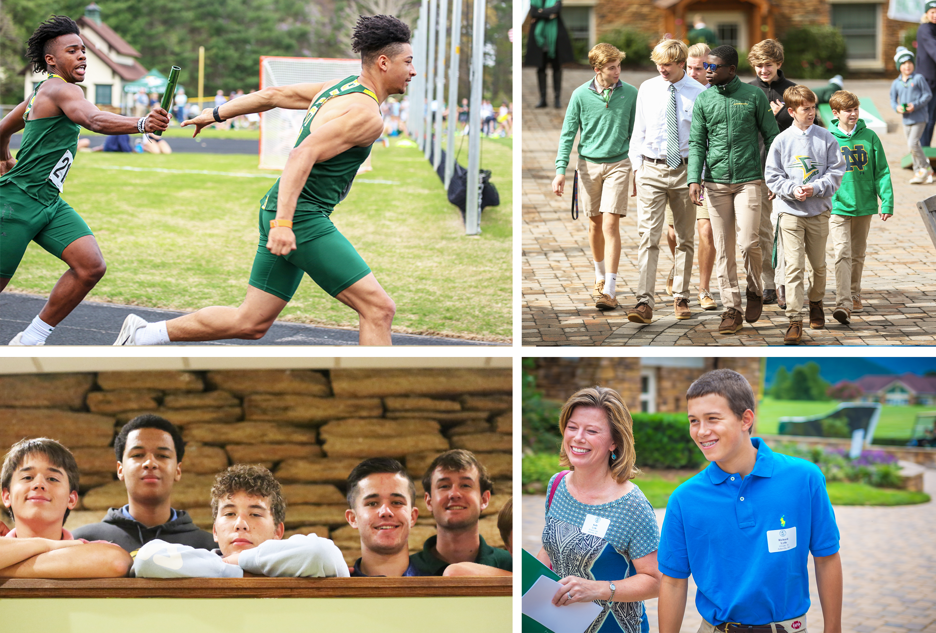 collage of students and family enjoying life at Christ School